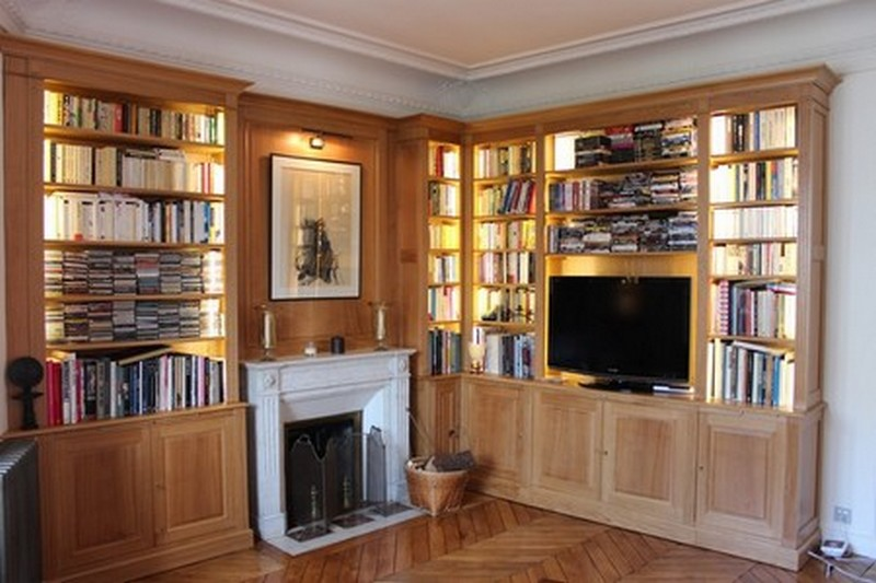 Am nagement biblioth que mode d 39 emploi mission maison - Amenagement bibliotheque salon ...