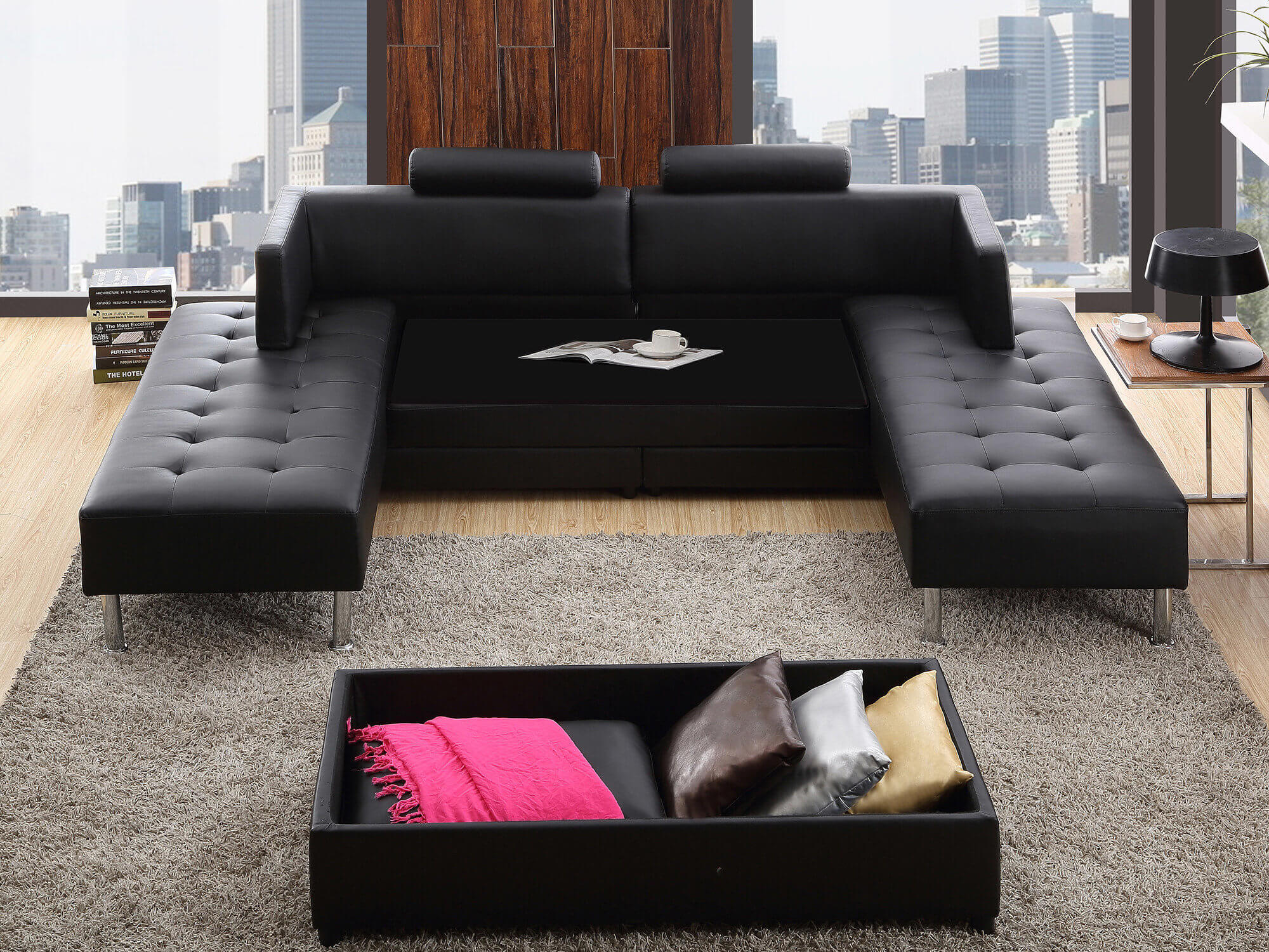 canap les avantages du mod le convertible et modulable mission maison. Black Bedroom Furniture Sets. Home Design Ideas